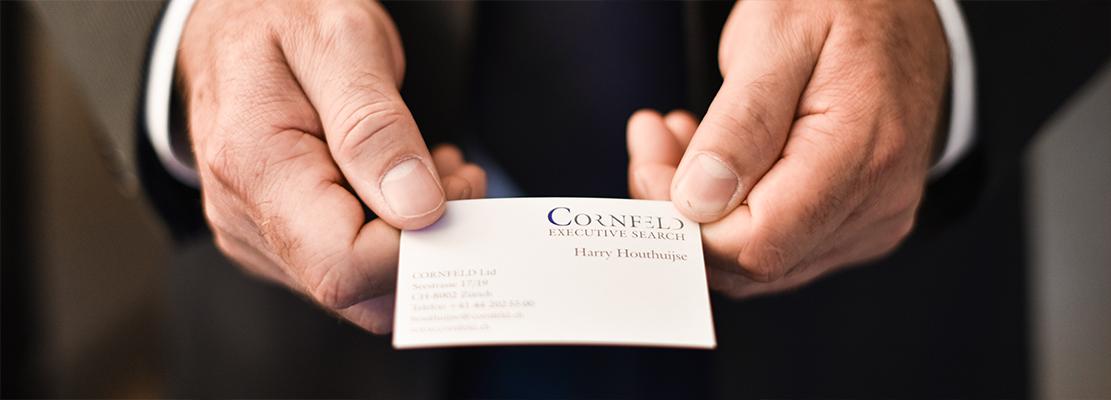 CORNFELD Executive Search Visitenkarte